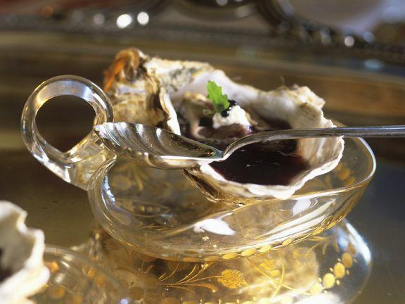 Austern in Weingelee