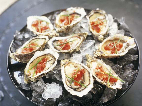 Austern mit Chilisoße auf spanische Art (Salsa)