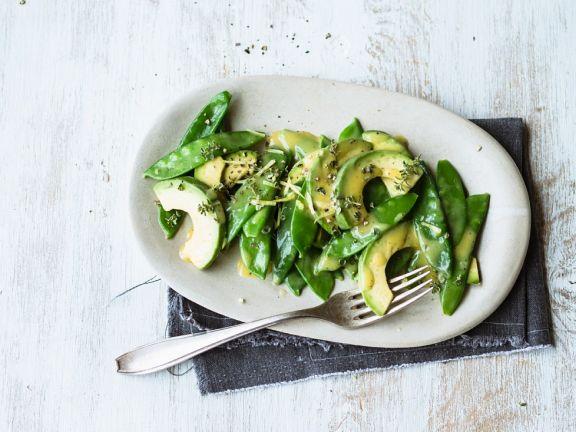 Avocado-Erbsenschoten-Salat