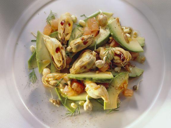 Avocado-Muschelsalat