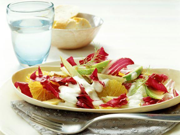 Avocado-Orangen-Salat mit Fenchel
