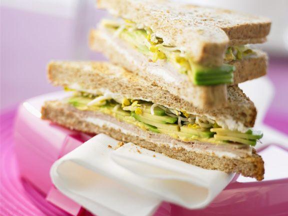 Avocado-Putensandwich