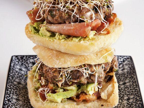 Avocado-Sprossen-Burger