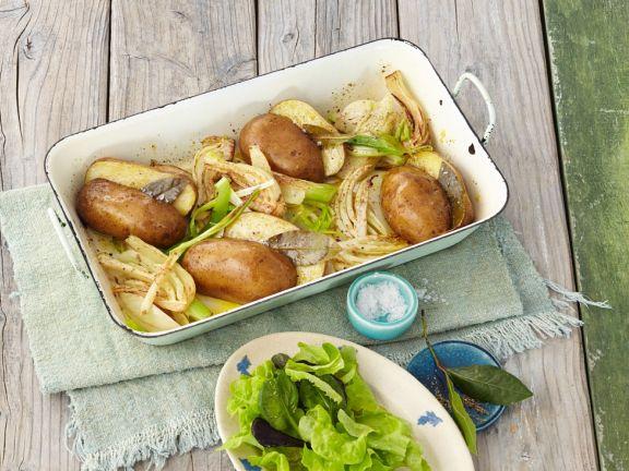 Backkartoffeln mit Fenchel