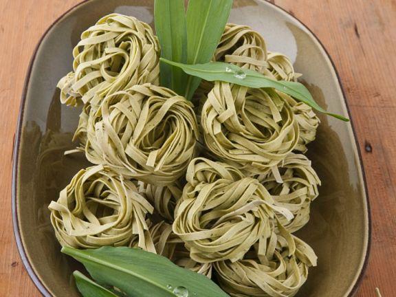 Bärlauch-Pasta-Nester