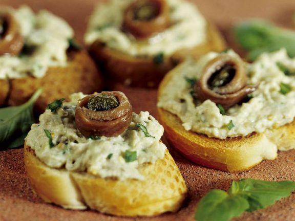 Baguette mit Auberginencreme