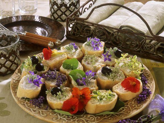 Baguette mit Kräuterquark