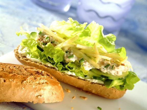 Baguette mit Thunfischsalat