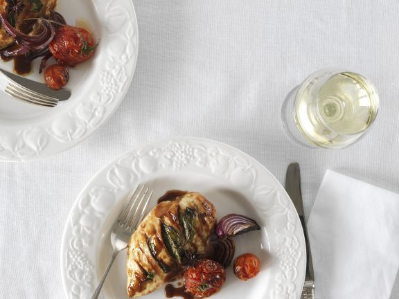 Balsam-Hühnchen mit Tomaten