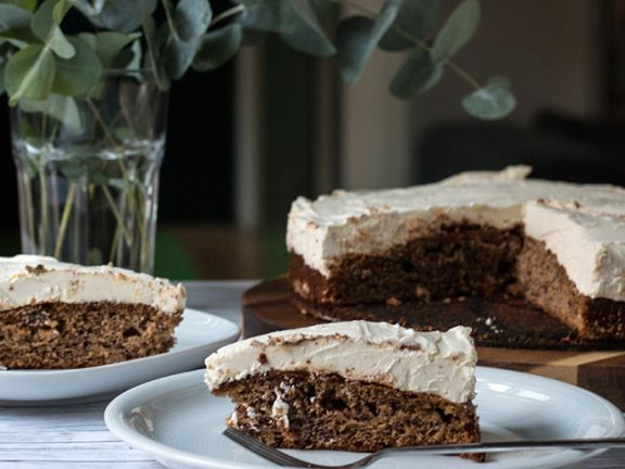 Bananabread mit Cheesecake-Topping
