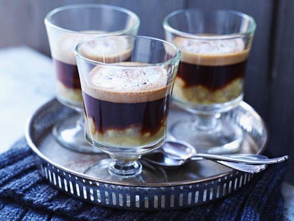 Banane mit Schoko-Kaffee
