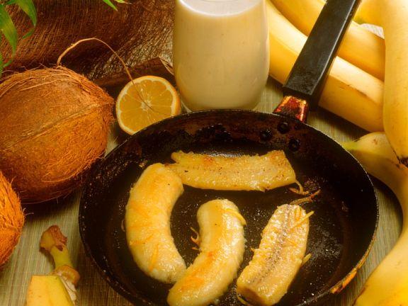 Bananen in Honig-Butter