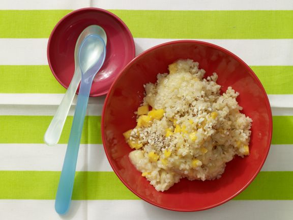 Bananen-Mandel-Brei mit Bulgur