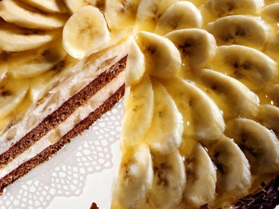 Bananen-Schokoflocken-Torte