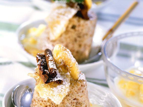 Bananenauflauf mit Ananaskompott