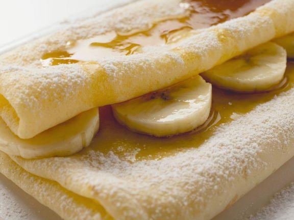 Bananencrêpe mit Ahornsirup