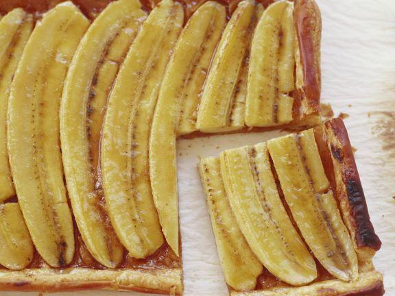 Bananenkuchen mit Blätterteig