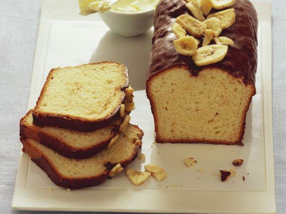 Bananenkuchen mit Schokoguss