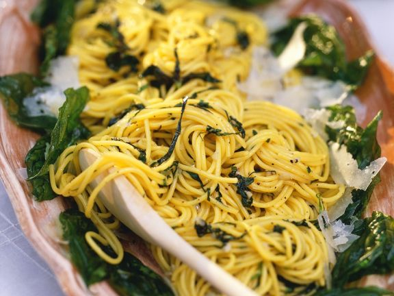 Basilikum-Spaghetti