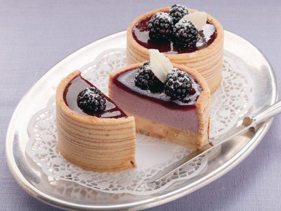 Baumkuchen-Brombeer-Törtchen