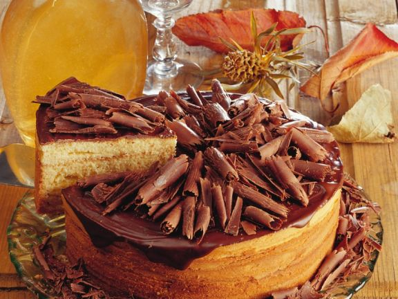 Baumkuchen mit Schokoraspeln