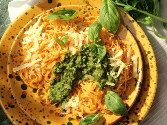 Bavette mit Basilikum-Pesto
