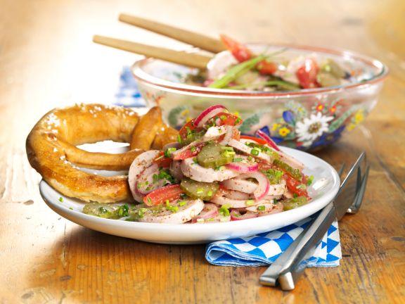 Bayerischer Wurstsalat Mit Brezel Rezept Eat Smarter