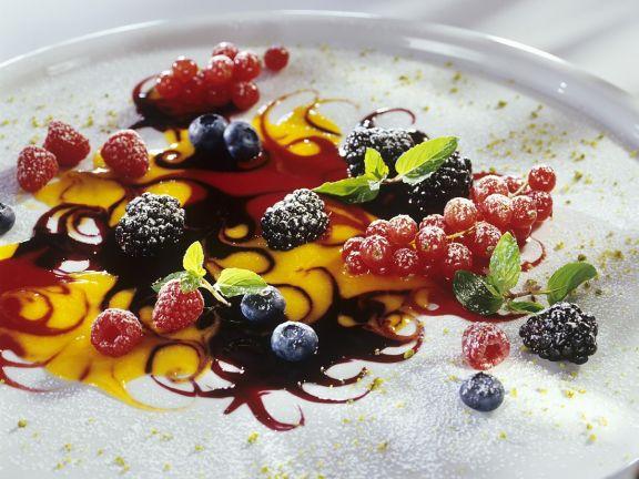 Beeren auf Fruchtspiegel