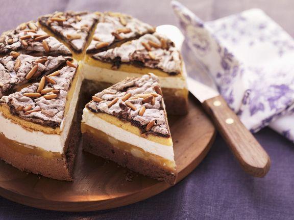 Birnen Baiser Torte Mit Pinienkernen Rezept Eat Smarter