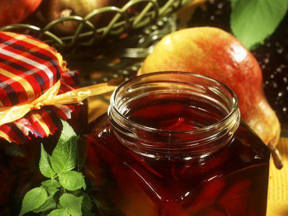 Birnen-Holunder-Fruchtaufstrich