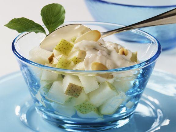 Birnen-Mandel-Salat