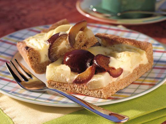 Birnen-Pflaumen-Kuchen