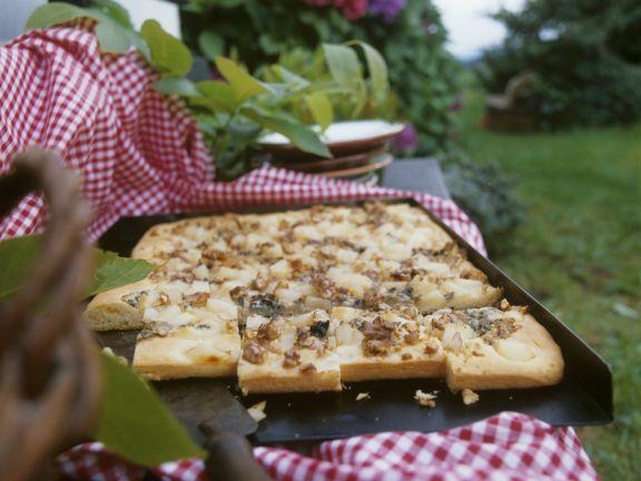 Birnen-Roquefort-Tarte