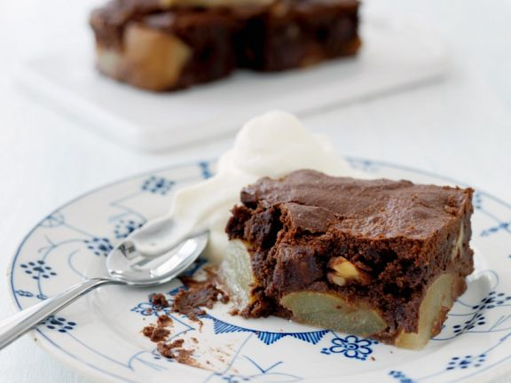 Birnen Schoko Kuchen Mit Nussen Rezept Eat Smarter