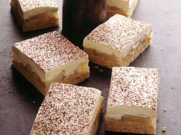 Birnenkuchen mit Mascarponecreme