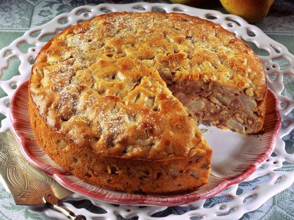 Birnenkuchen mit Nüssen