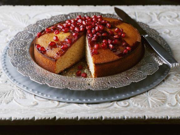 Biskuit-Granatapfelkuchen