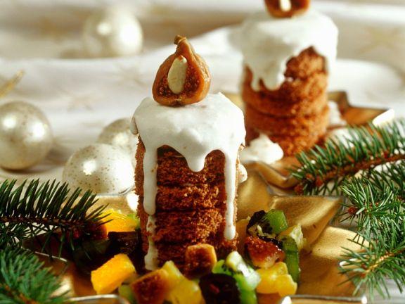 Biskuit-Türmchen zum Advent