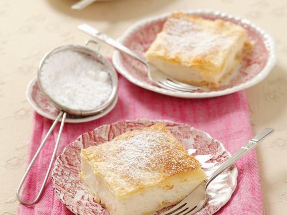 Blätterteig-Creme-Kuchen
