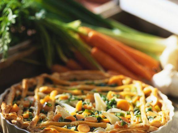 Blätterteig-Gemüsetarte