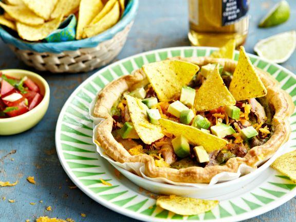 Blätterteig-Tarte mit mexikanischer Füllung