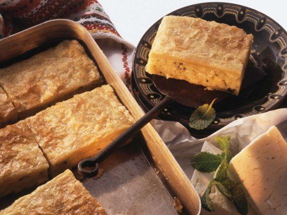 Blätterteigpastete mit Käse aus Bulugarien