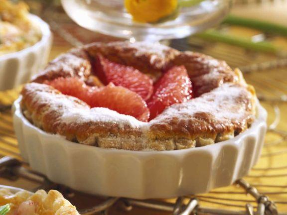 Blätterteigtarte mit Grapefruit