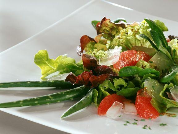 Blattsalat mit Aloe Vera