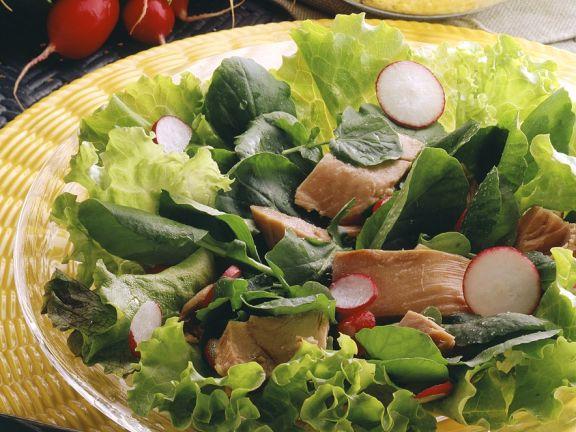 Blattsalat mit Thunfisch