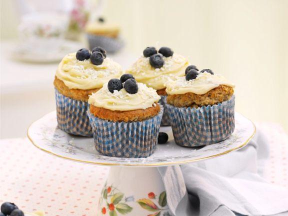Blaubeer-Bananencupcakes