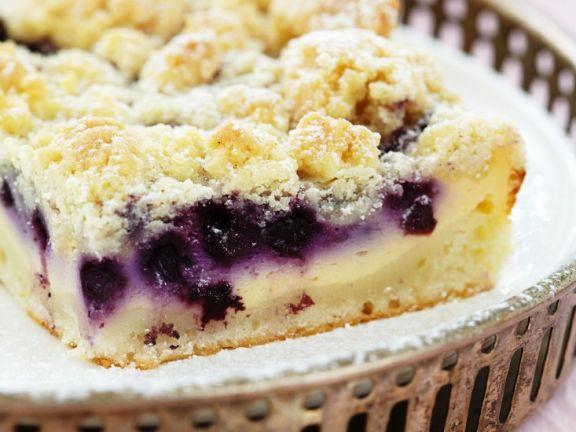 Blaubeer Quarkkuchen Mit Streusel Rezept Eat Smarter