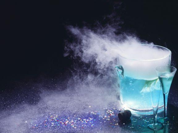 Blauer Feuercocktail