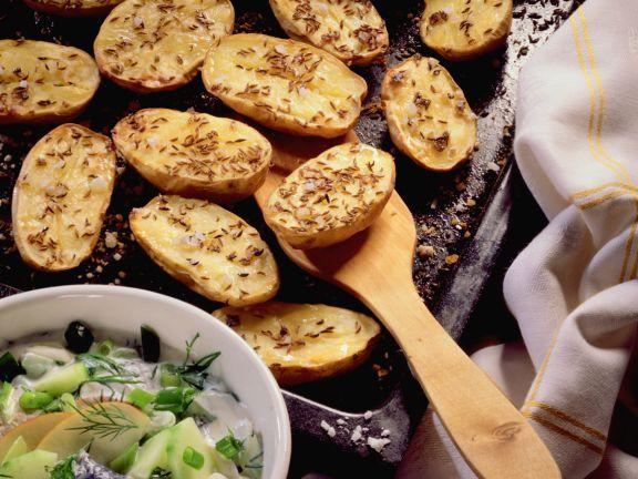 Blechkartoffeln mit Heringstopf