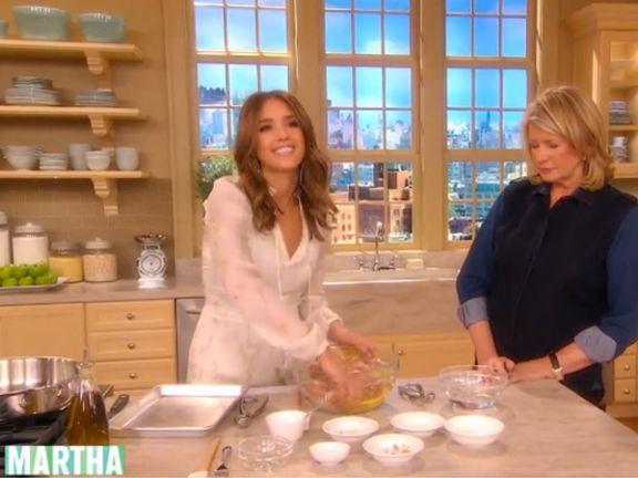 Jessica Alba bei Martha Stewart
